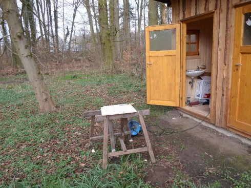 Meine improvisierte Schönwetter-Werkstatt